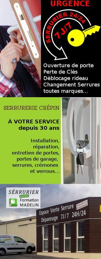 Serrurier Crepin 44320 saint père en retz : pose, entretien serrures - dépannage ouverture de porte - Pornic - St Brévin et St Nazaire